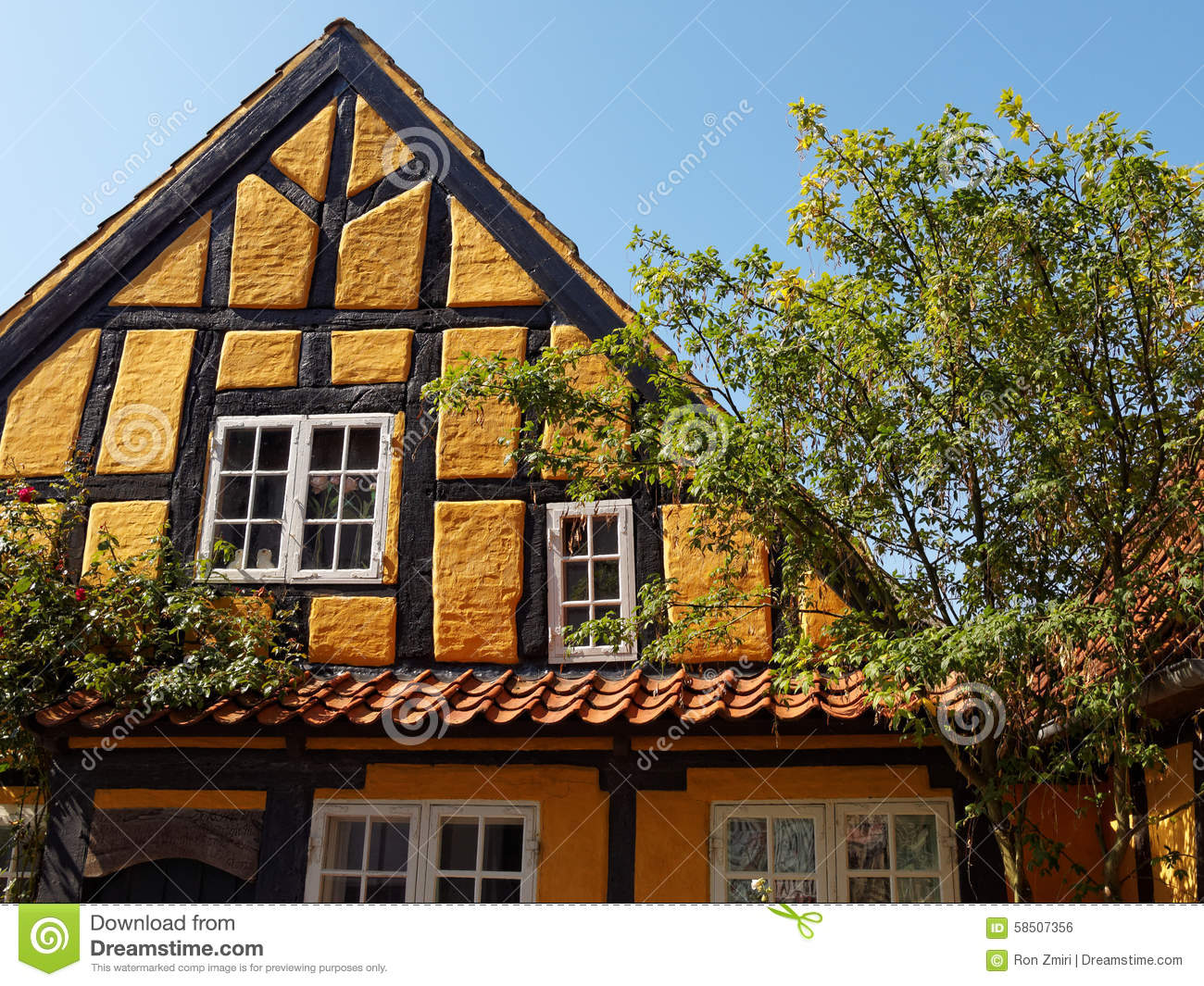 Traditional old danish house stock photo image 58507356 for Old house classics