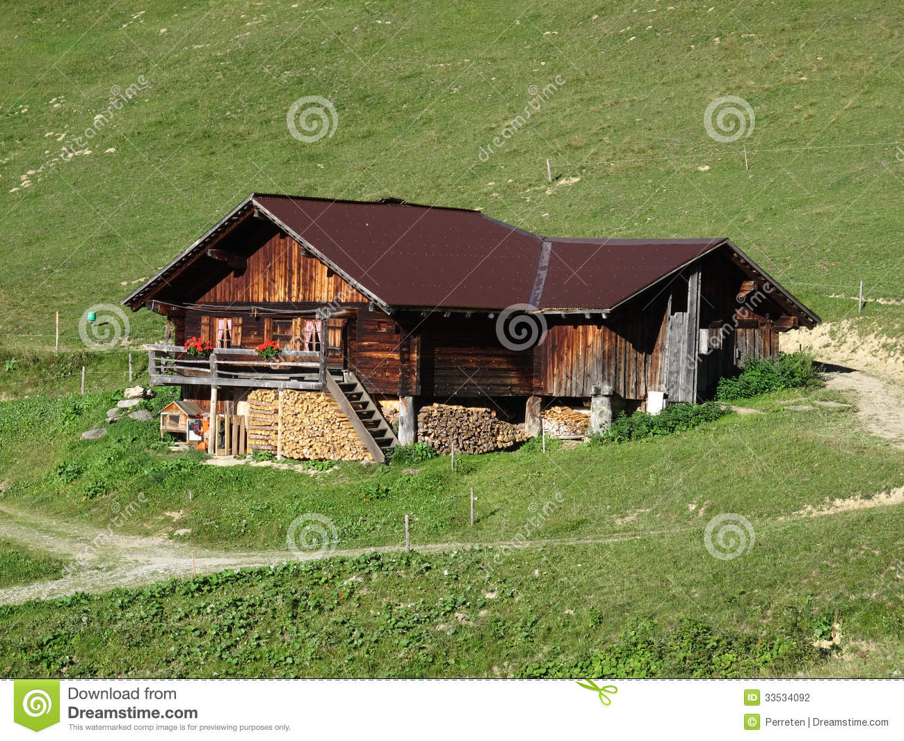 Stock Photography Traditional Old Farm House Bernese Oberland Swiss Alps Image33534092 on Mountain Cottage House Plans
