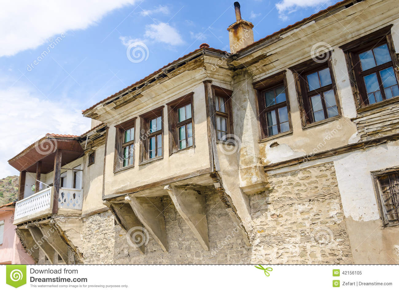 Traditional old house in macedonia stock image image for Old traditional houses