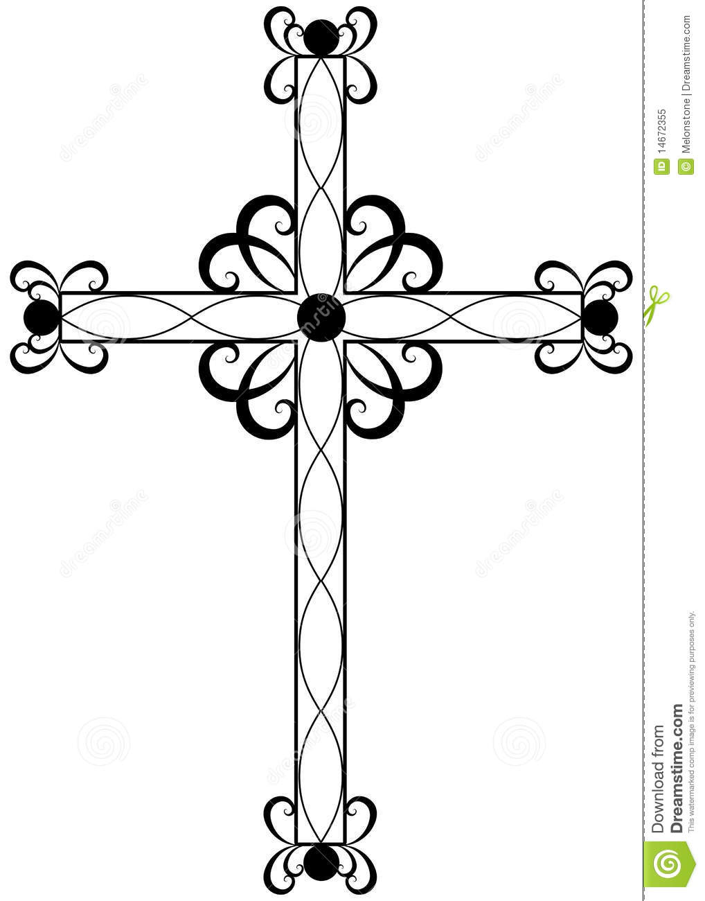 Traditional Ornate Religious Cross Royalty Free Stock