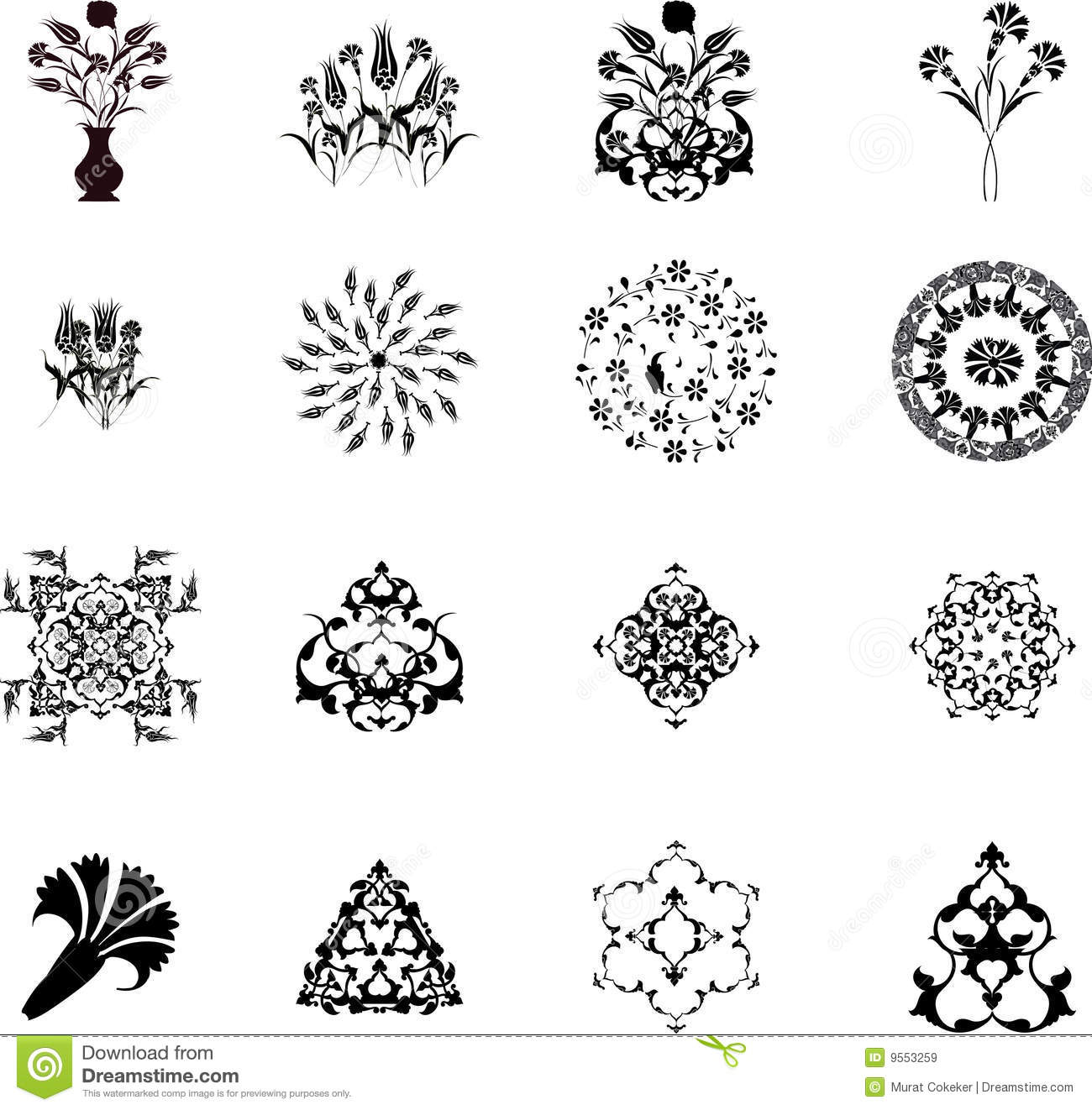 Royalty-Free Stock Photo. Download Traditional Ottoman Turkish Design ...