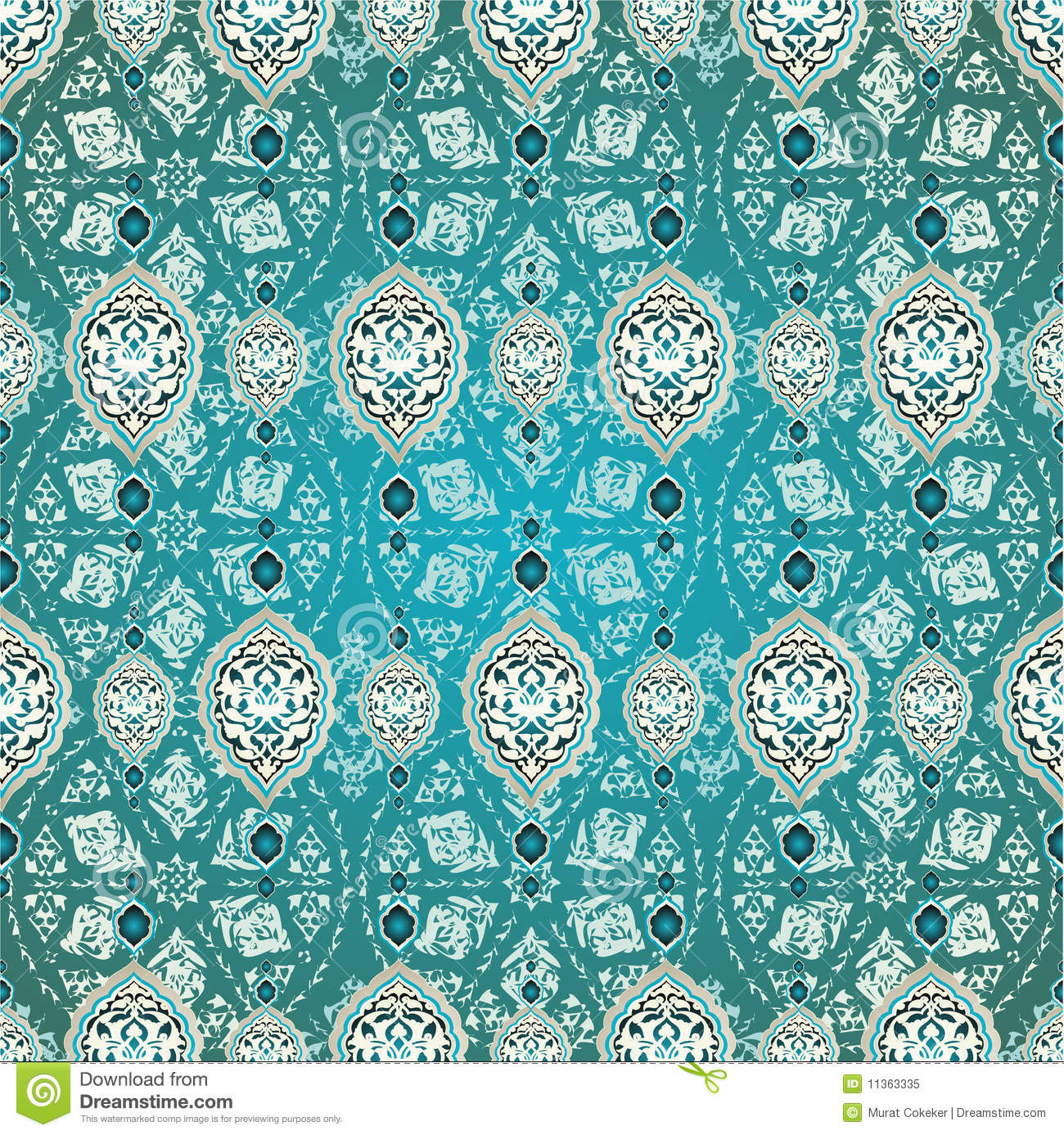 Turkish Design Wallpaper : Traditional ottoman turkish seamless design stock vector