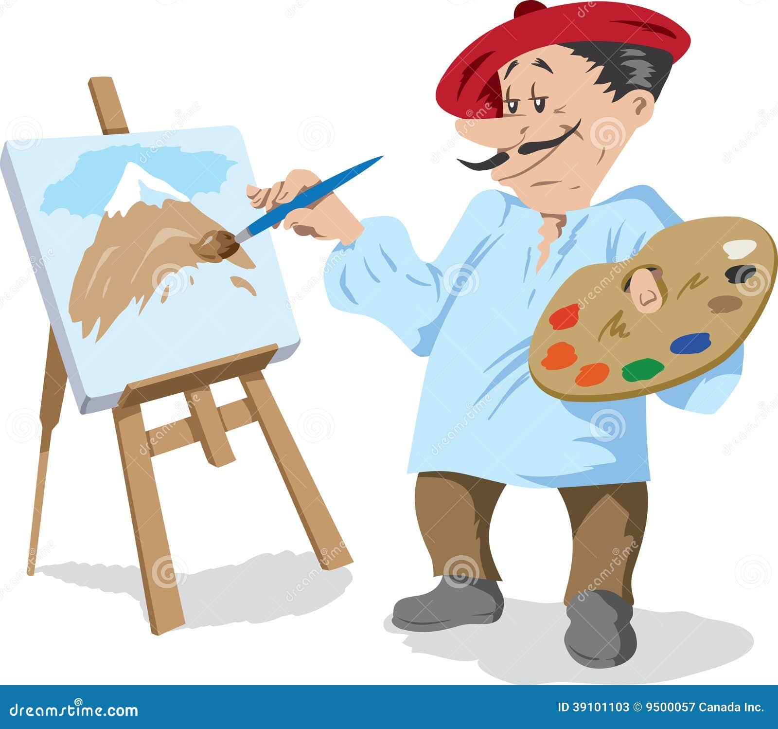 traditional painter stock vector image 39101103 Painter's Palette Clip Art Cartoon Artist Clip Art