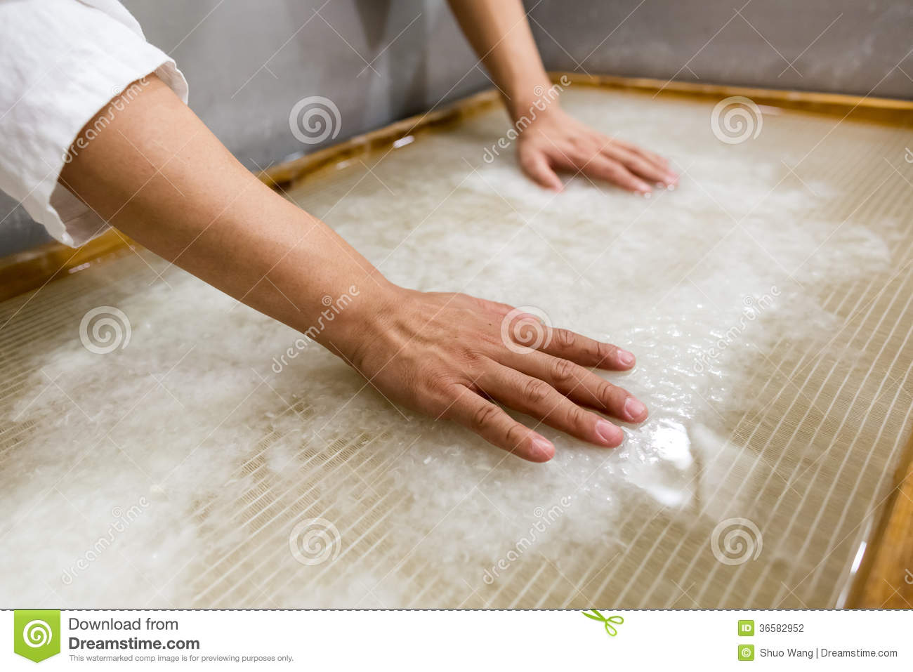 The Traditional Papermaking Stock Image - Image of factory ... |Old Papermaking Technology