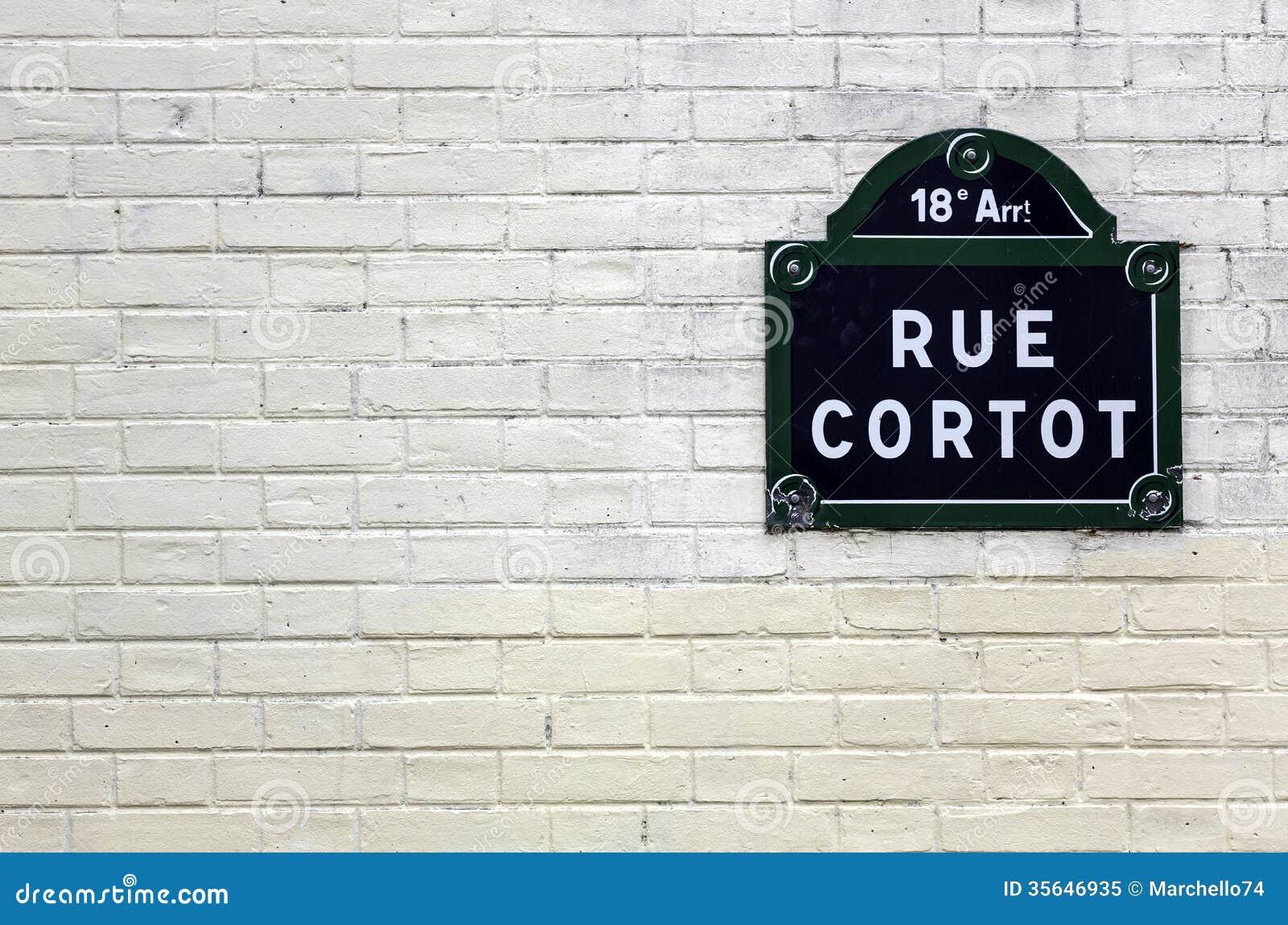 White Brick Wall Street Traditional Paris Plaque Name