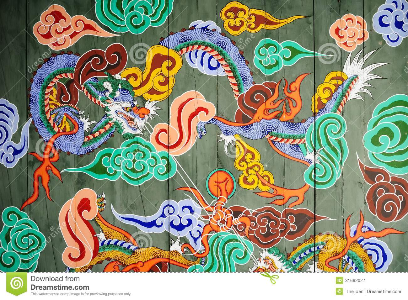 traditional pattern of korean castle gate royalty free stock