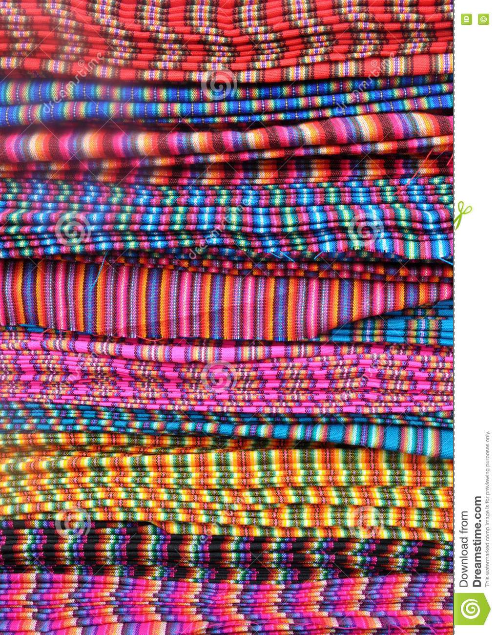 Traditional patterned fabric in ecuador stock image for Patterned material fabric