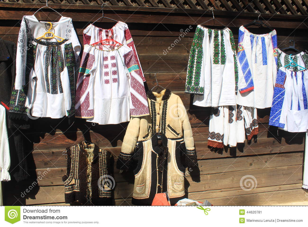Traditional peasant costumes