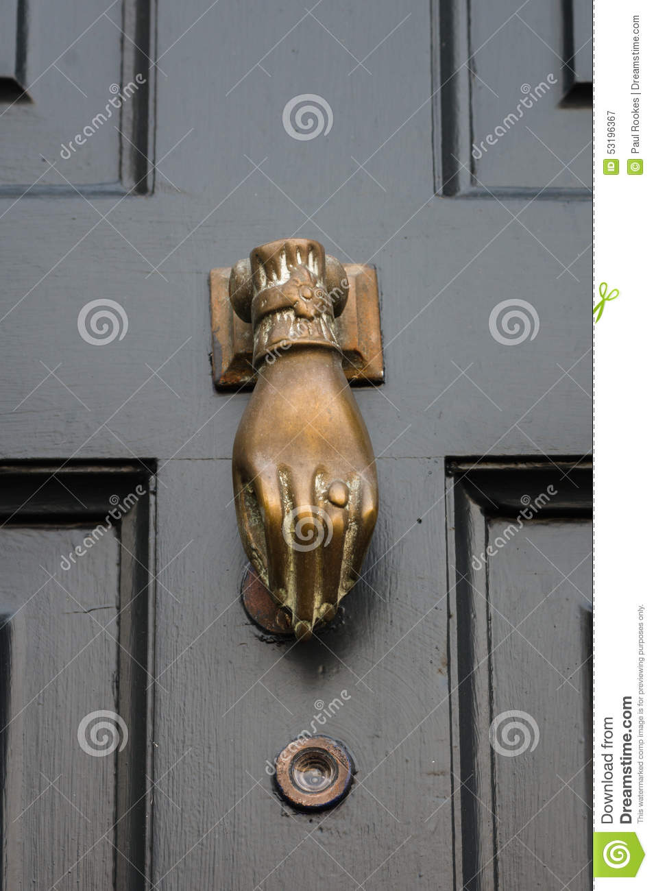 front door knockers  Traditional - Period - Antique - Front Door Knocker Stock Image ...