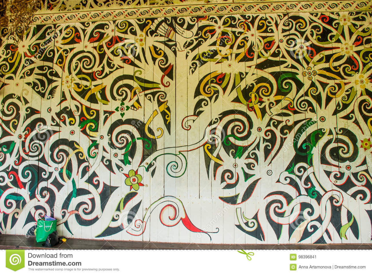 The Traditional Picture On The Wall, Decoration And Decor. Kuching ...
