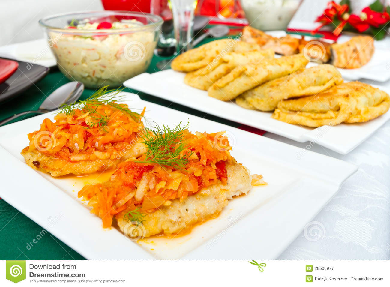 Traditional polish food for christmas eve stock image for Authentic polish cuisine