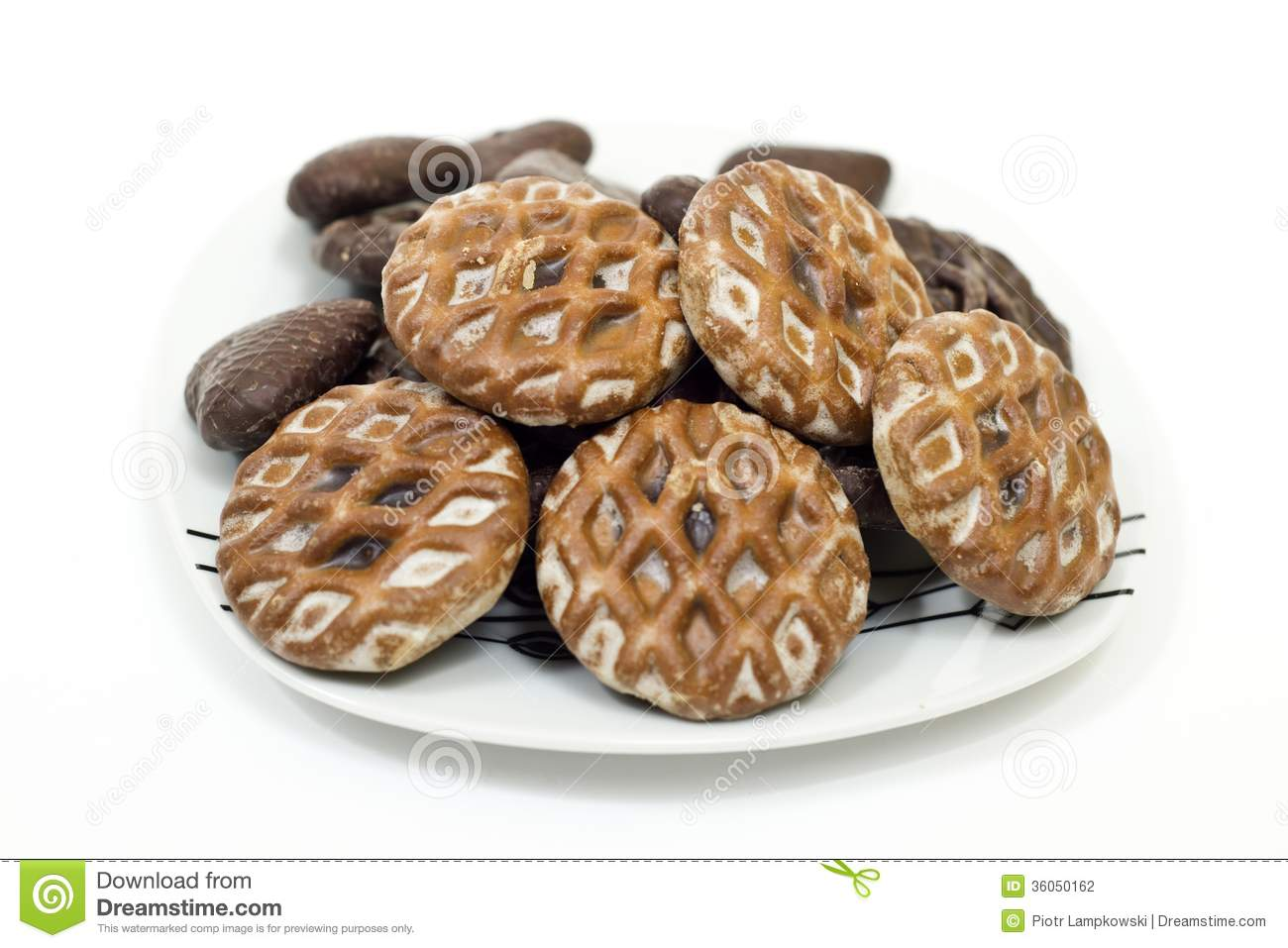 Traditional Polish Gingerbread Stock Photo Image Of Isolated