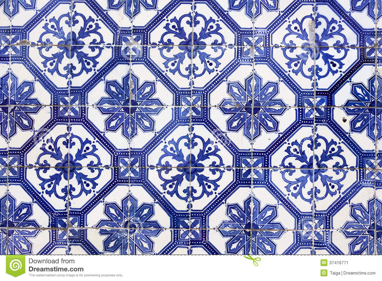 Traditional Portugese Tile Azulejos Lisbon Europe