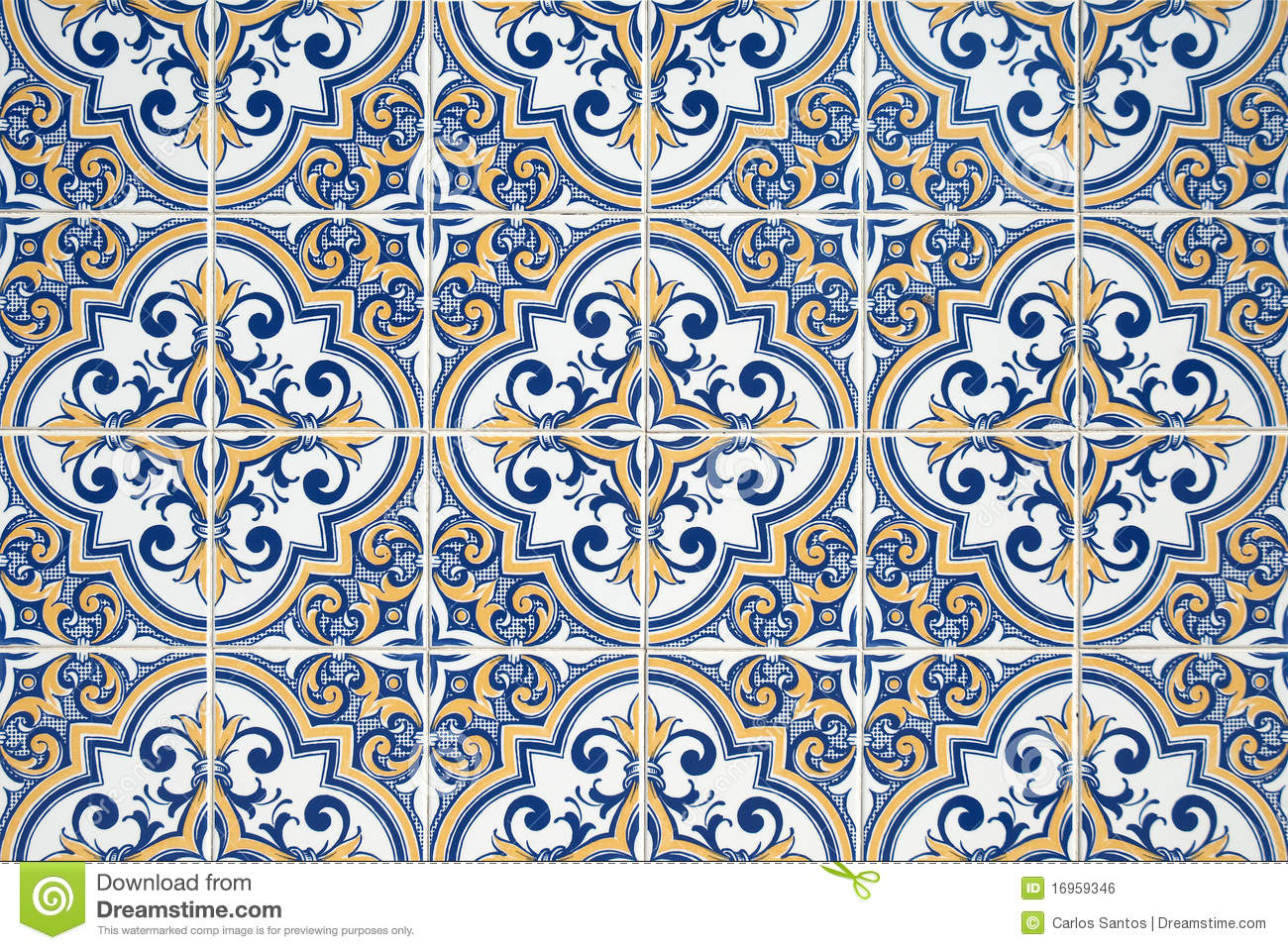 Traditional Portuguese Azulejos Stock Photo Image 16959346
