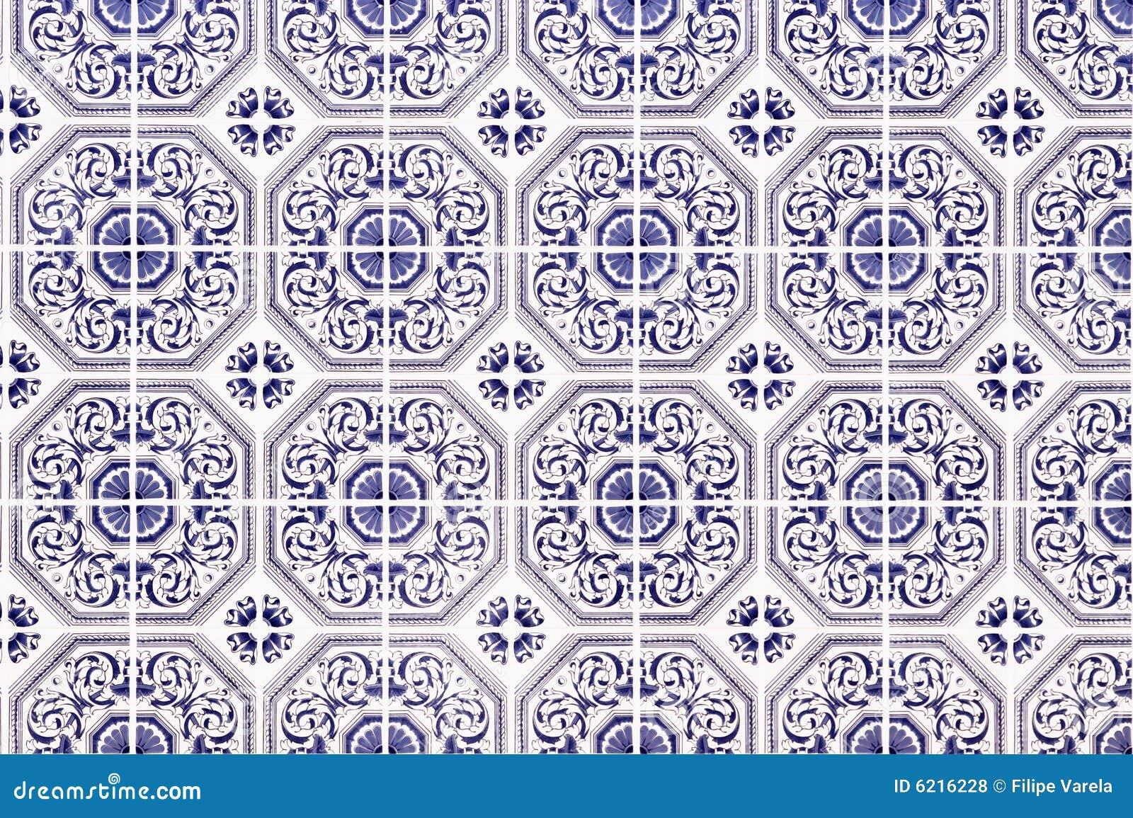Traditional Portuguese Ceramic Mosaic Royalty Free Stock