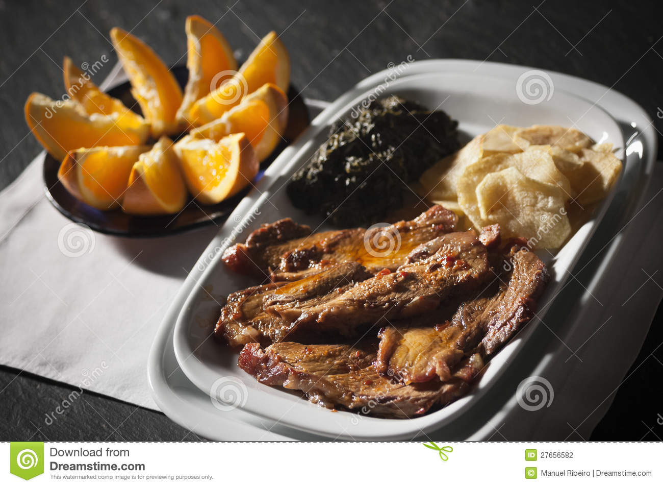 Traditional portuguese food stock photography image for Authentic portuguese cuisine