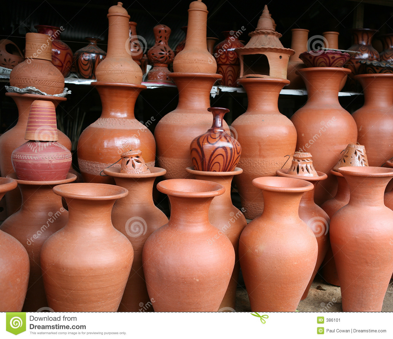 clay pottery in sri lanka Traditional pots stock image. Image of rustic, potter, pottery