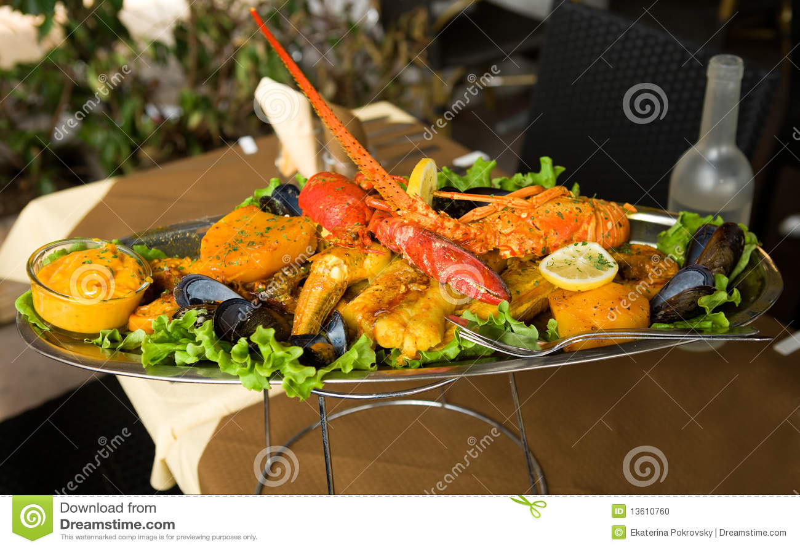 Traditional Provencal fish stew bouillabaisse