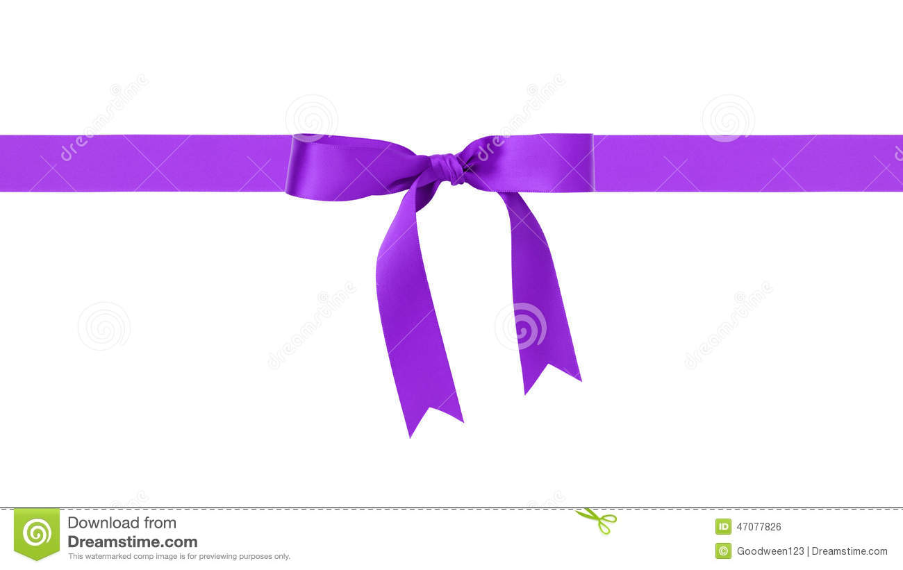 Traditional Purple Ribbon Bow Border Stock Photo - Image ...