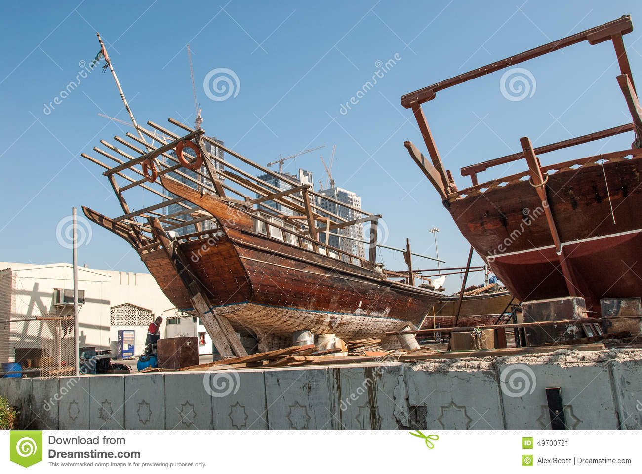 Traditional RAcing Dhows In Abu Dhabi Stock Image - Image of