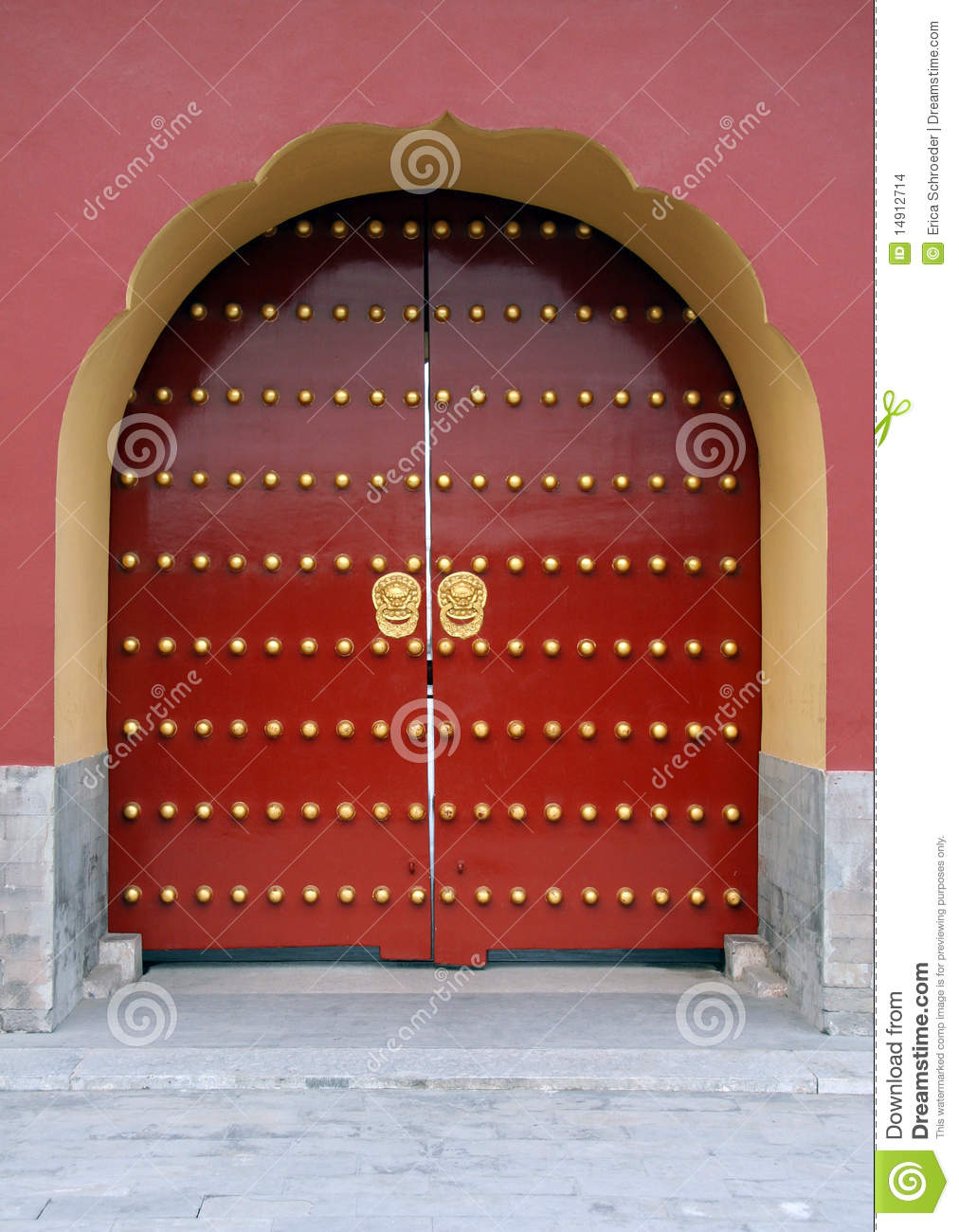 Traditional Red Chinese Door Stock Images Image 14912714
