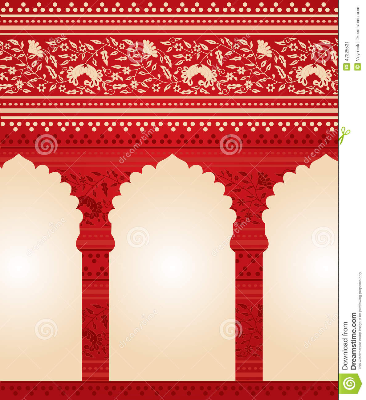 Traditional red indian floral temple background stock vector download comp thecheapjerseys Image collections