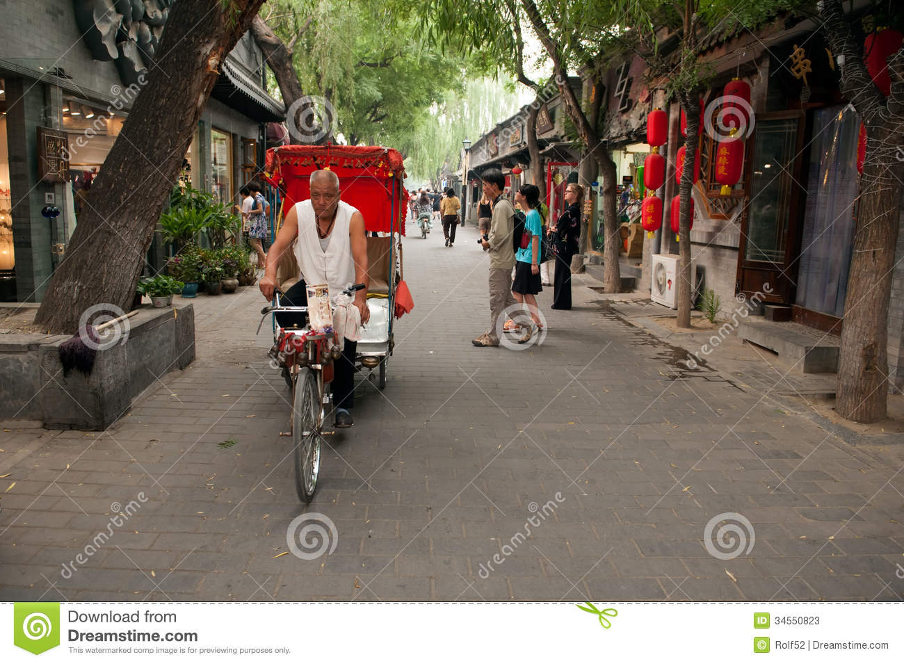 Traditional rickshaw in the old Hutongs of Beijing