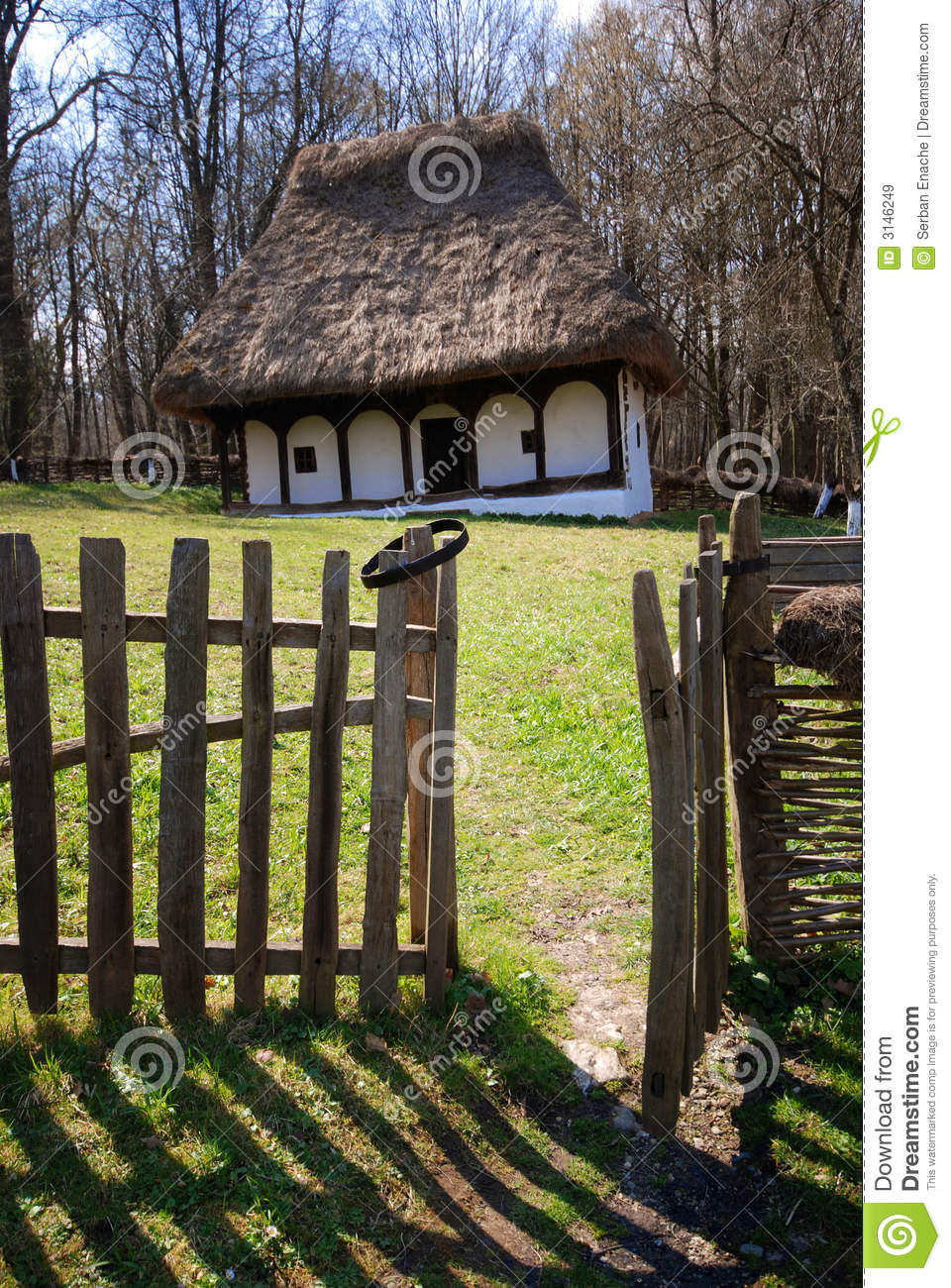 Traditional romanian house royalty free stock images image 3146249 - Houses maramures wood ...