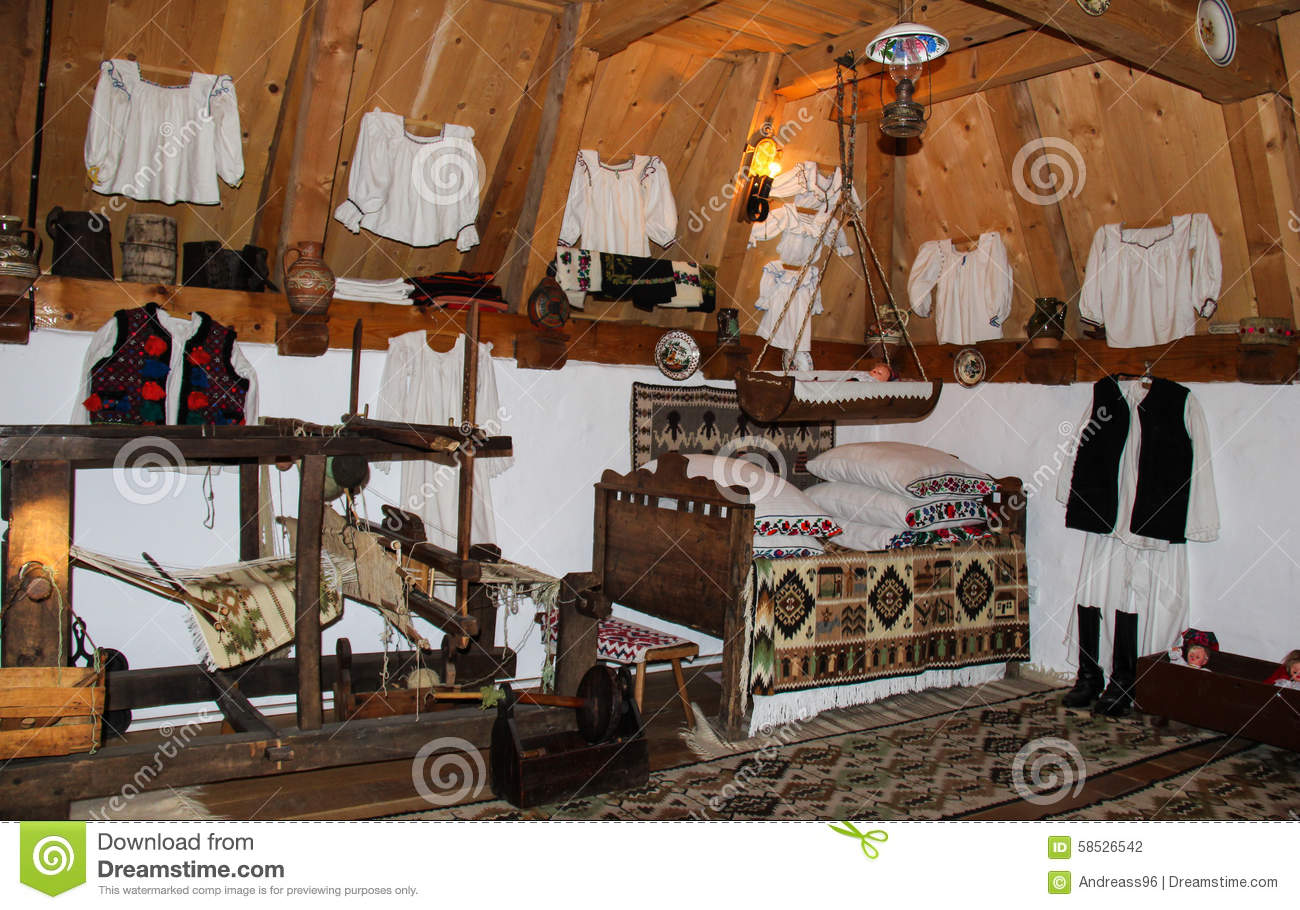 Traditional Romanian House Interior Stock Photo Image 58526542