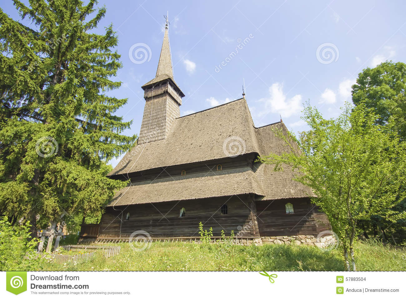 Traditional romanian wooden church