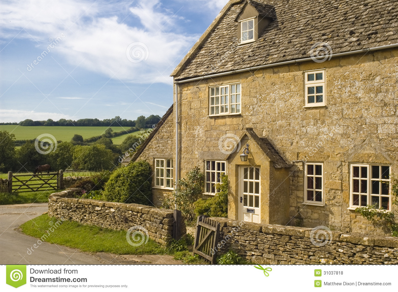 Traditional Rural Homes Scene Royalty Free Stock Photos