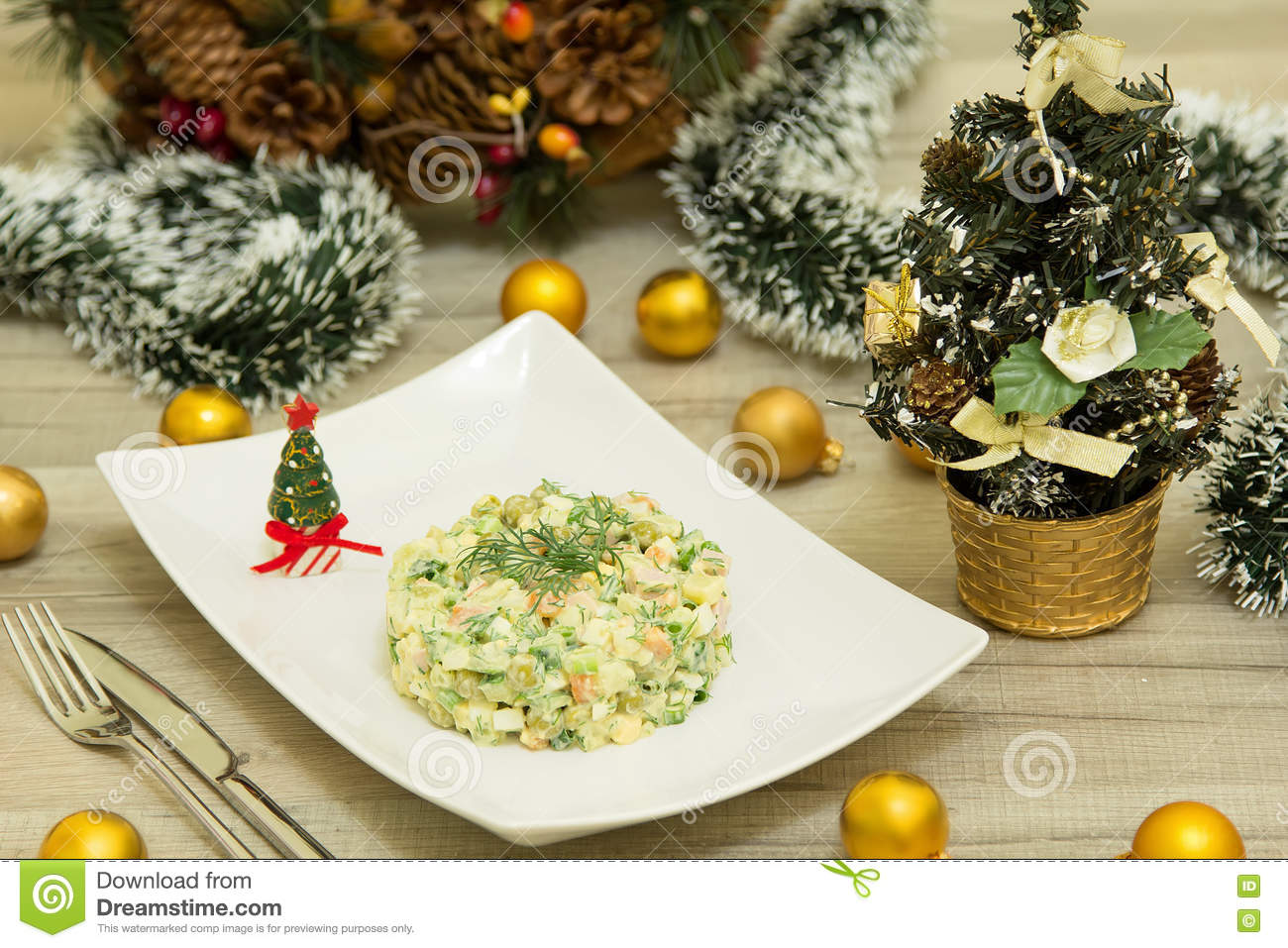download traditional russian christmas salad olivier with sausage and fresh cucumbers stock image image of