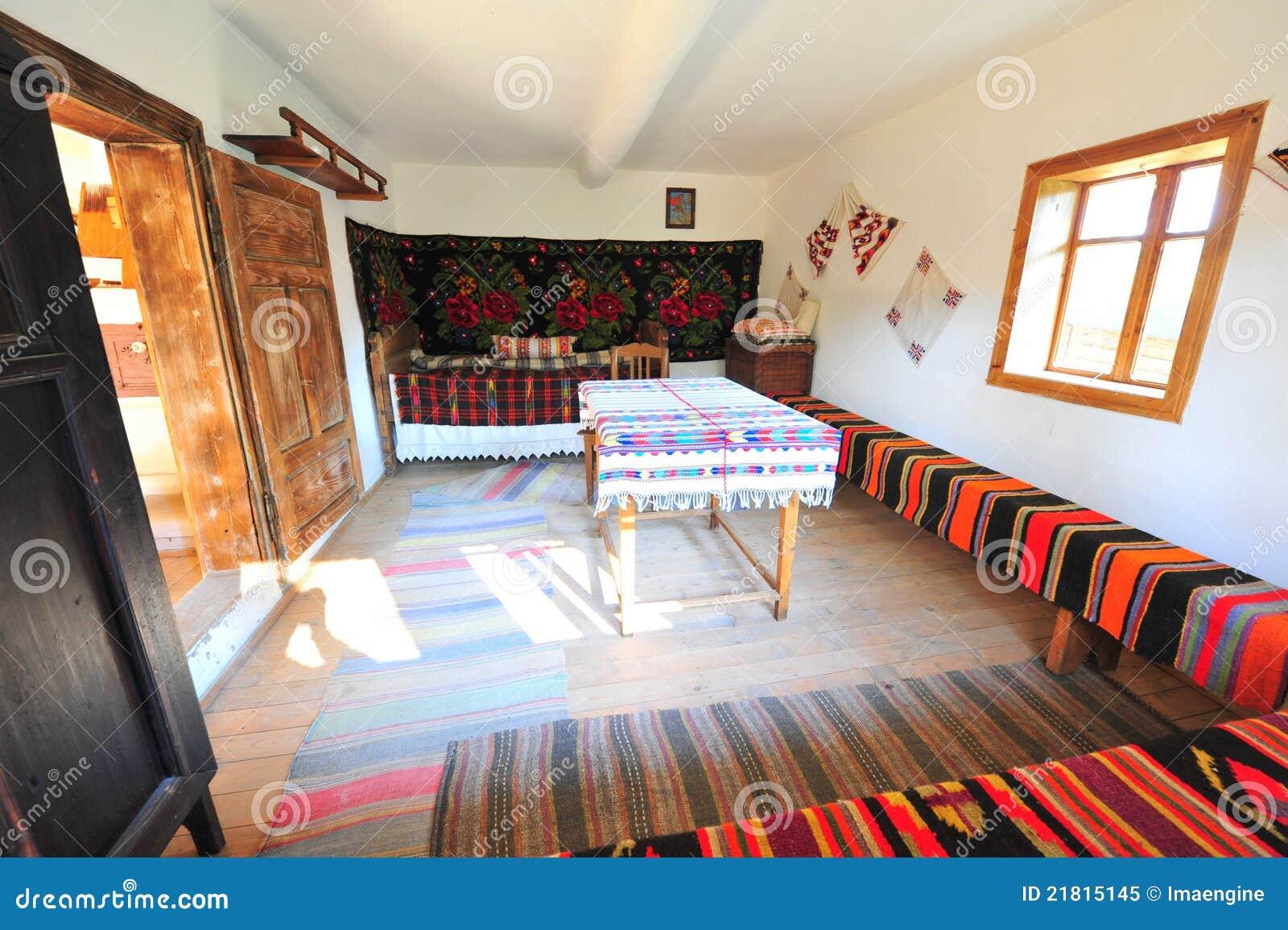Traditional Rustic Rural Home Interior Romania Royalty