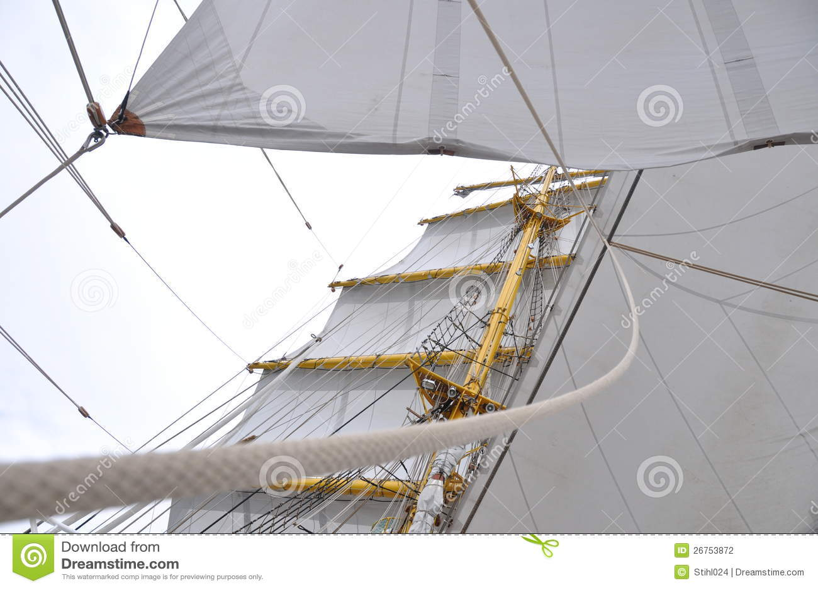 Traditional sail rig