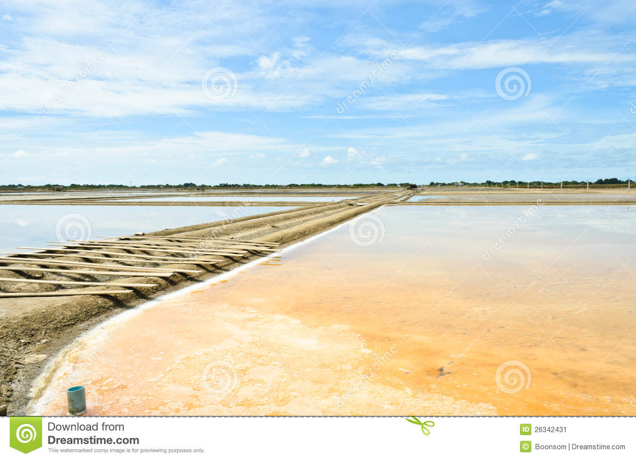 Traditional salt evaporation pond stock image image for Design of evaporation pond