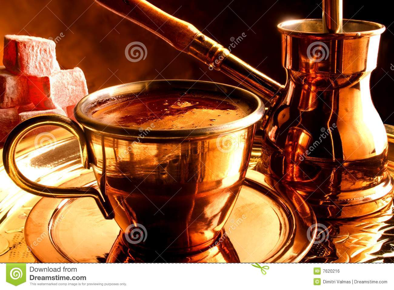 Download Traditional Serving Of Turkish Coffee Stock Photo - Image of greek, saucer: 7620216