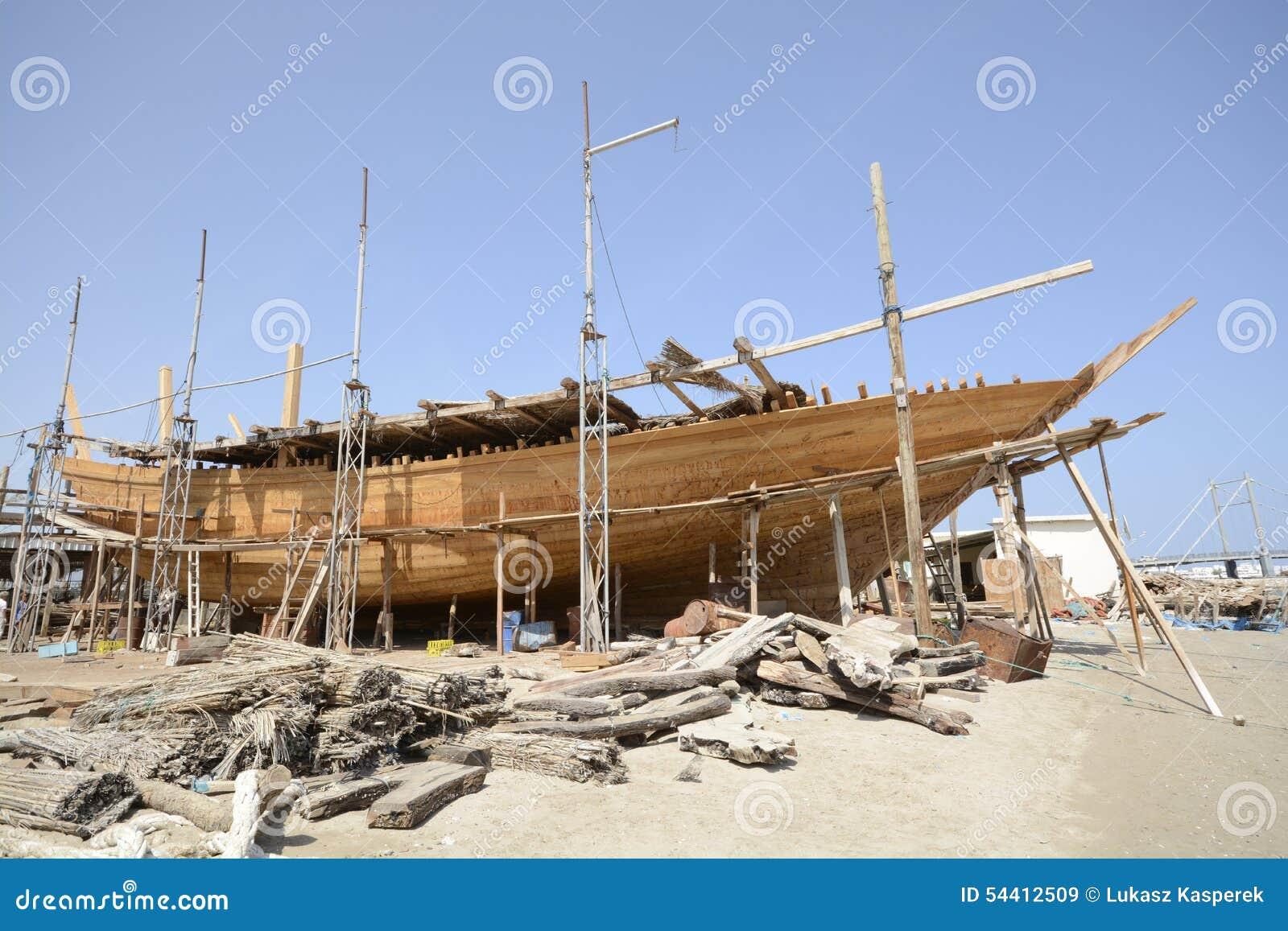 Traditional shipbuilding in Oman