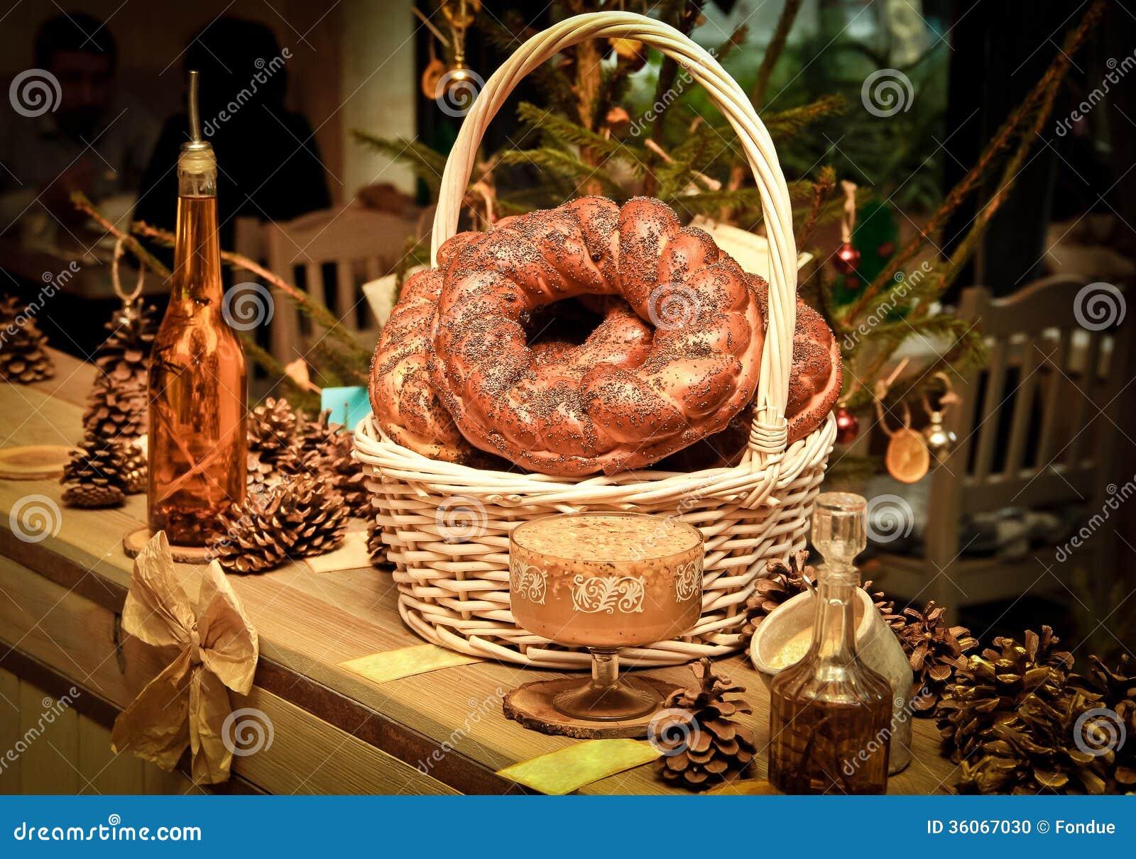 Traditional slavic russian christmas table stock photo - Table de noel traditionnelle ...
