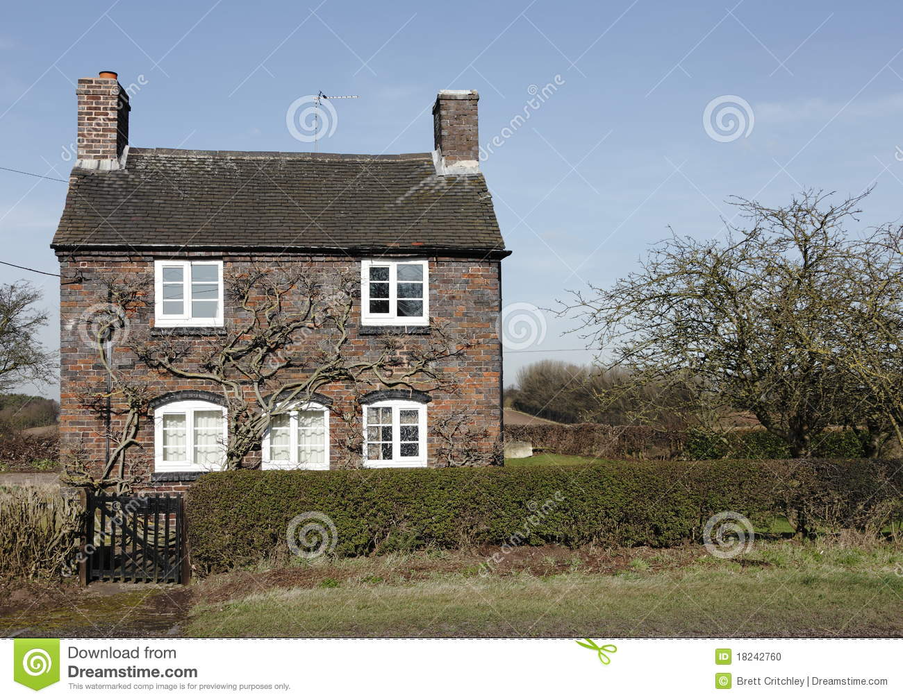 Traditional small english cottage stock photo image for Small traditional house