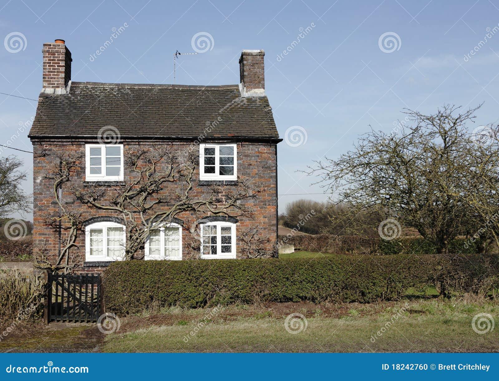 Traditional Small English Cottage Stock Photo Image