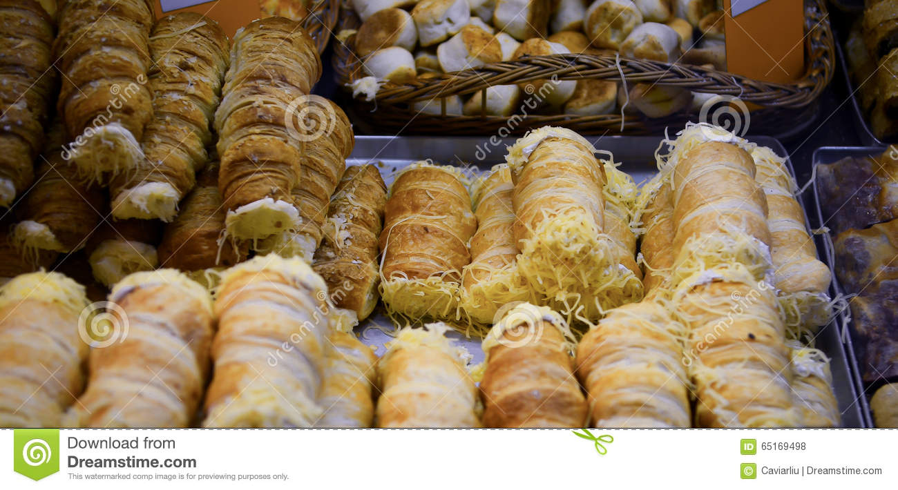 Traditional snack sweet dessert food Vendor in Great Market Hall Budapest, Hungary