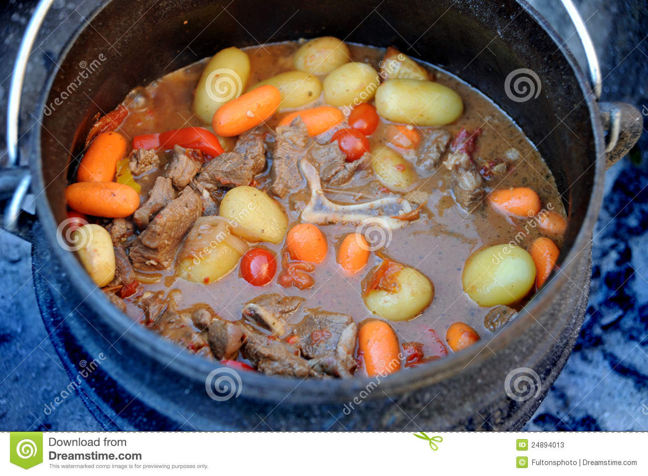 Traditional South African Potjie Stock Image Image 24894013