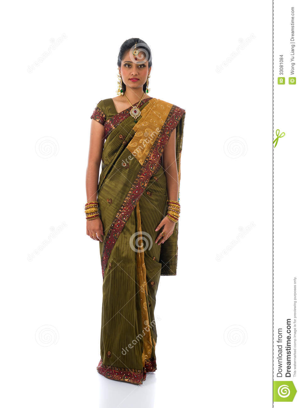 5a028a769 traditional south indian tamil woman with isolated white background full  body