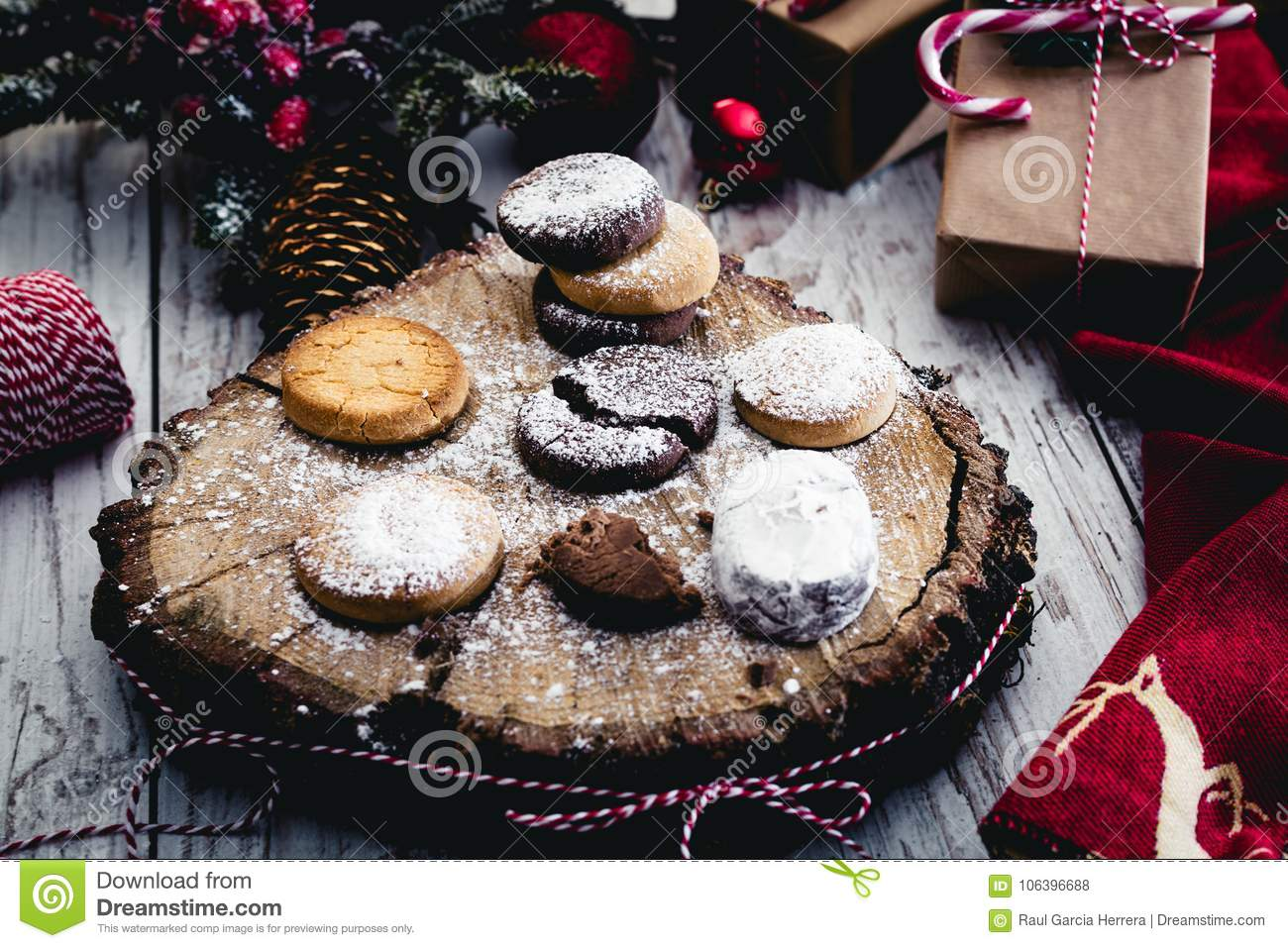 Traditional Spanish Christmas Candy. Andalusian Shortbread Cookies ...