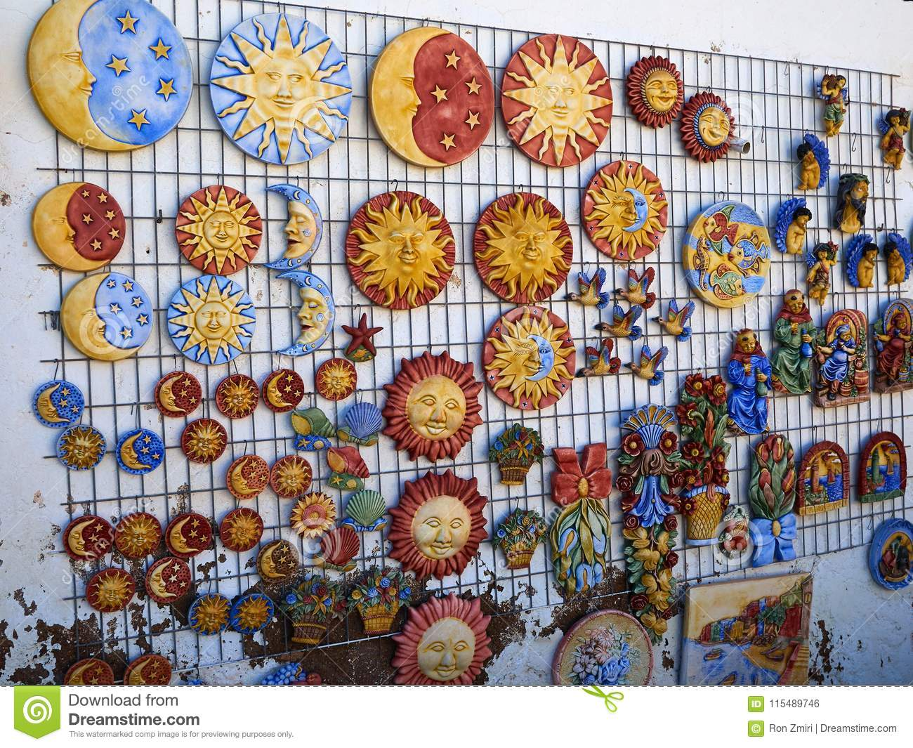 Traditional Spanish Colorful Ceramic Wall Decoration Stock Photo Image Of Decorate Pattern 115489746