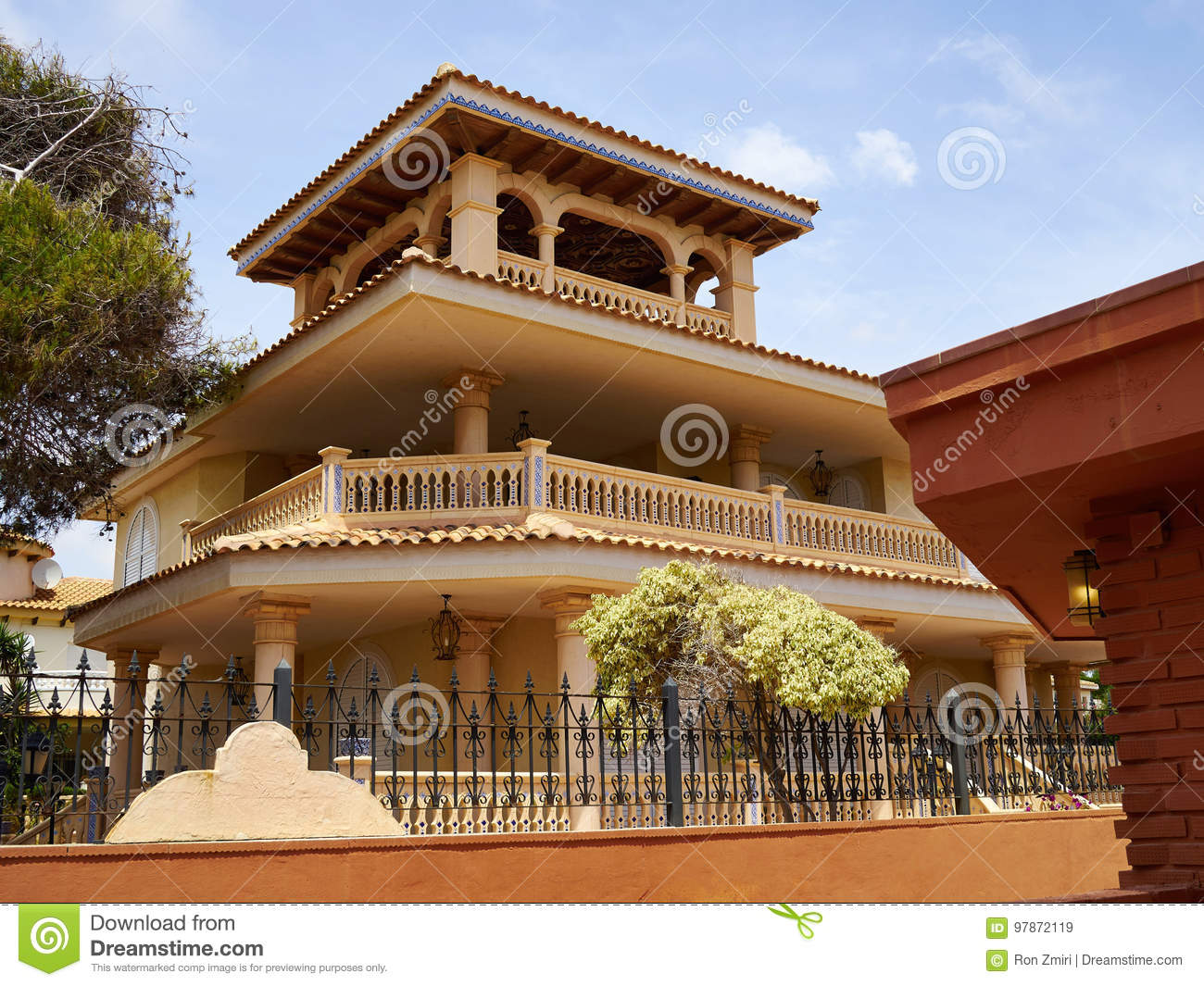Traditional Spanish Style House Real Estate Spain Stock Image
