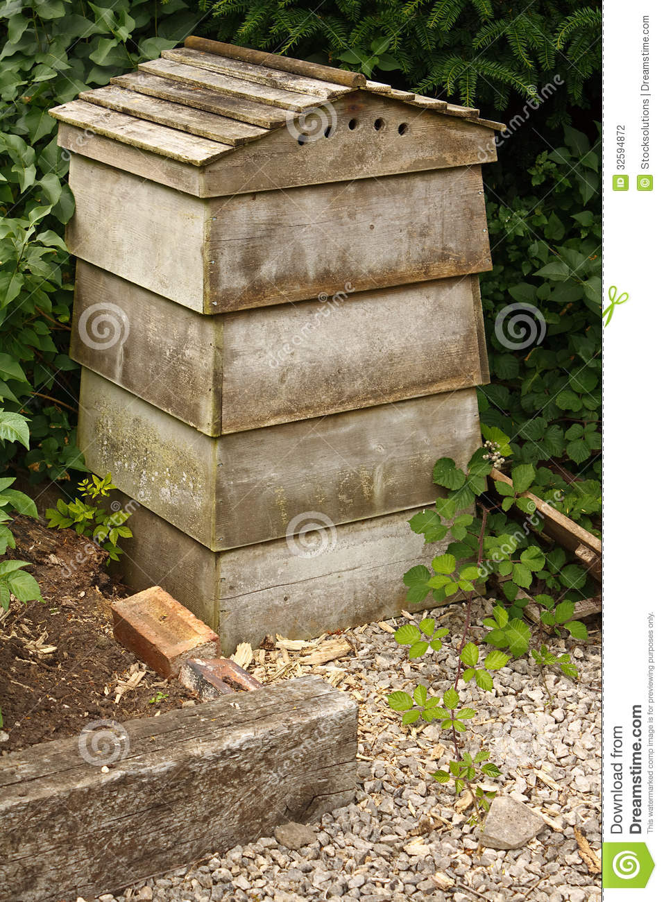 Traditional Stacking Beehive Stock Photo Image 32594872