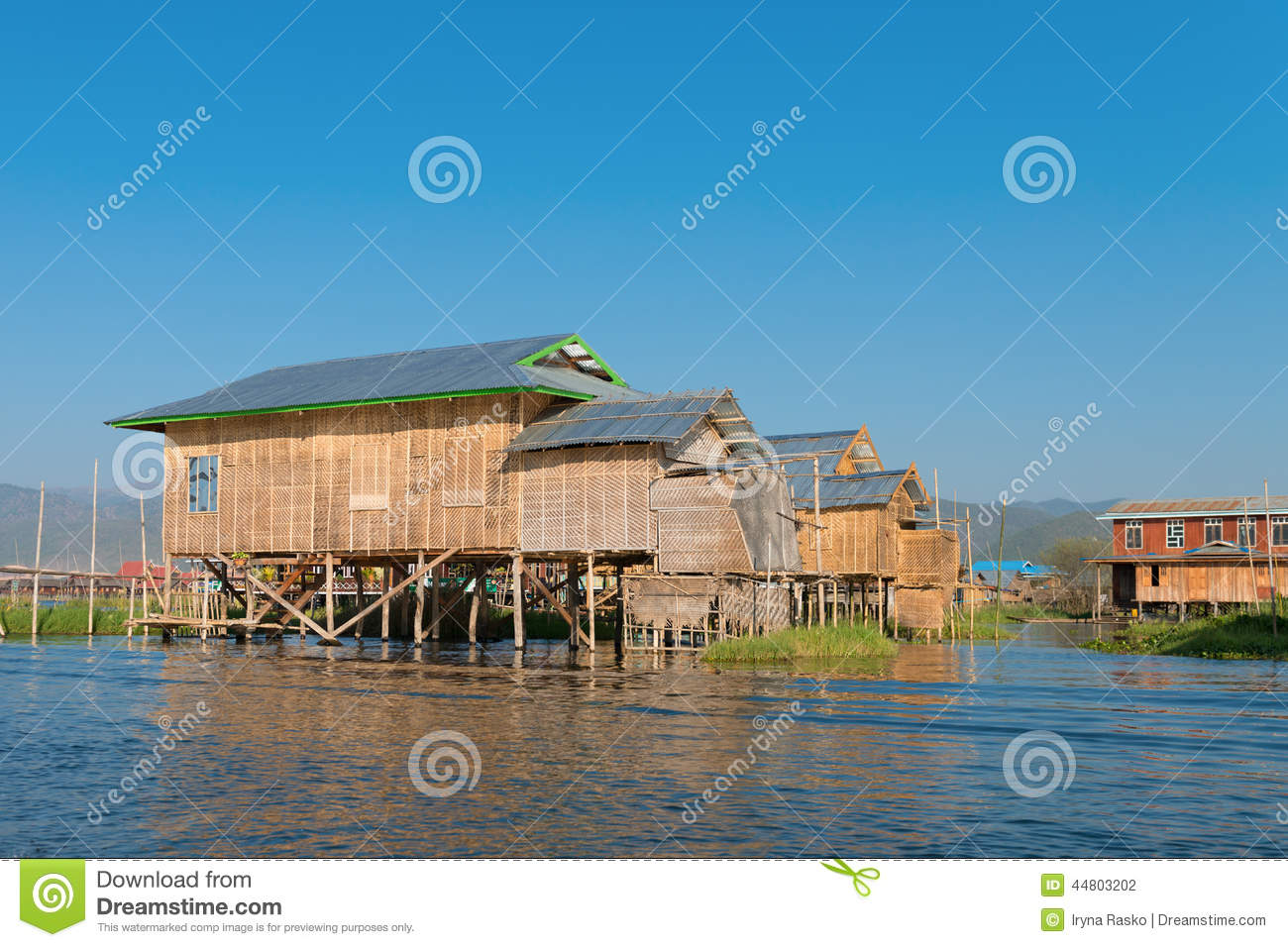 Traditional stilts house in water under blue sky stock photo image 44803202 - Household water treatment a traditional approach ...