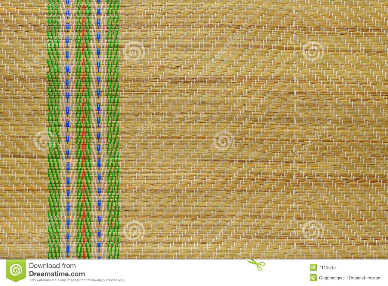Traditional Straw Mat Royalty Free Stock Photo Image