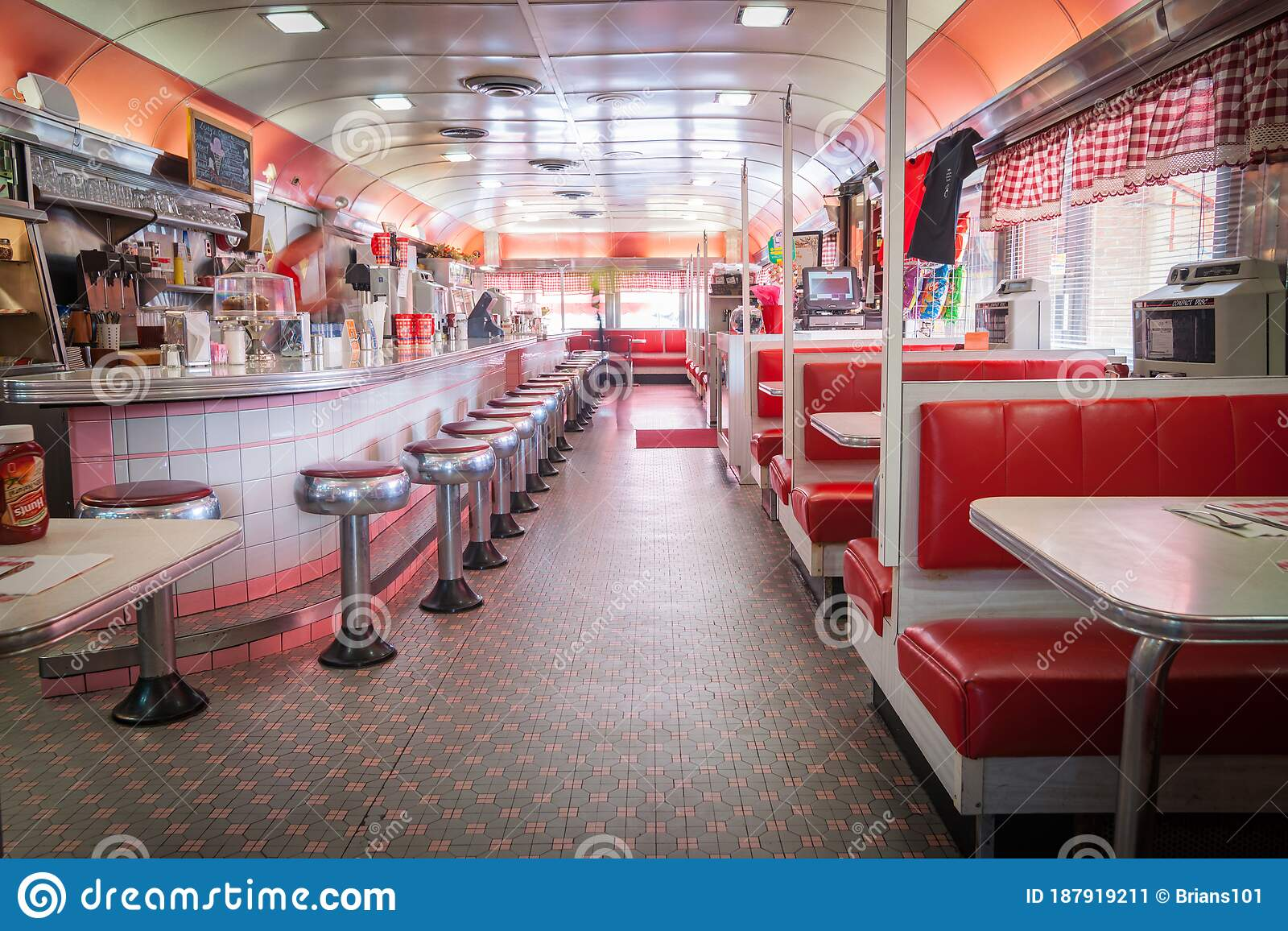 Traditional Styl E American Diner In Retro Design Fitout Editorial Photo Image Of Style Food 187919211